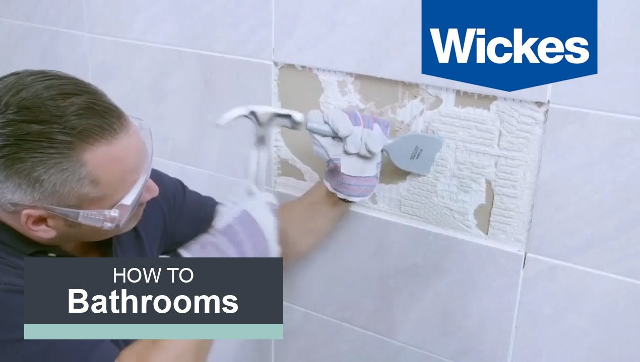 How to Remove and Replace Tiles with Wickes - YouTube