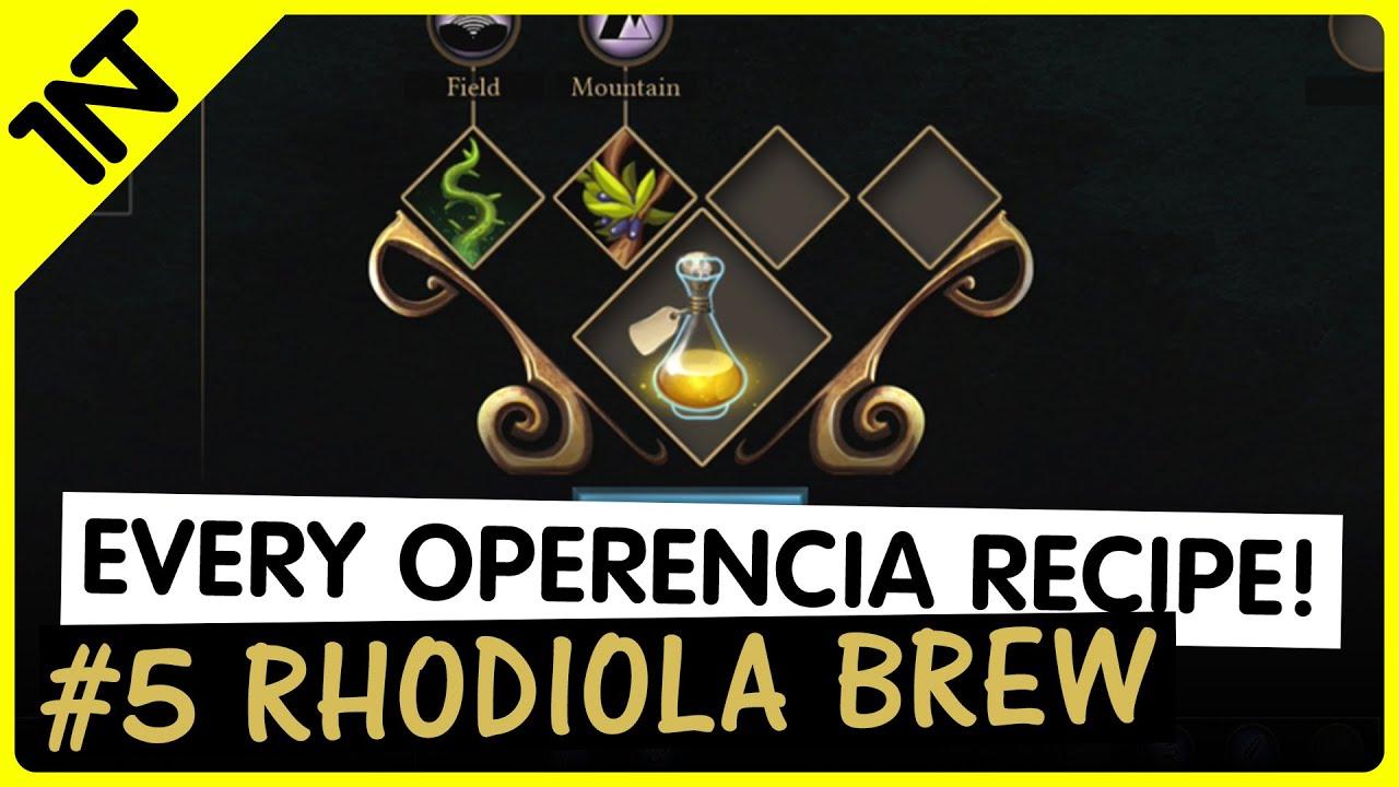 Operencia: The Stolen Sun Rhodiola Brew Recipe