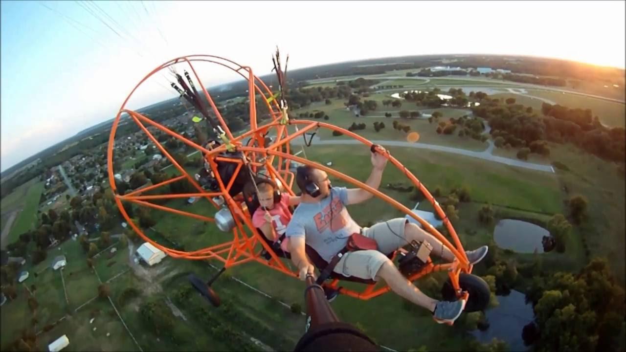 power paraglider 4 stroke trike parachute tandem seating