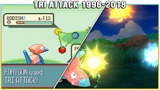 Evolution of Tri Attack - Pokémon Moves (1996-2018)