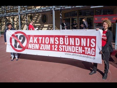 """Aktionsbündnis """"NEIN zum 12 Stunden-Tag"""" - AK-Wien"""