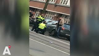 Spectaculaire beelden: Arrestatie schietpartij Hugo de Grootplein Amsterdam