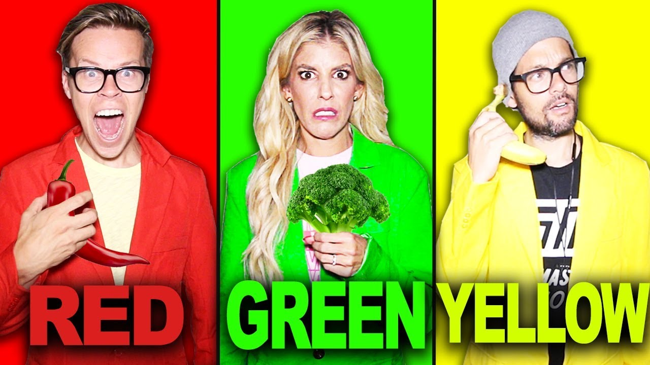 Download Last To STOP Eating Their Colored Food Challenge!   Matt and Rebecca