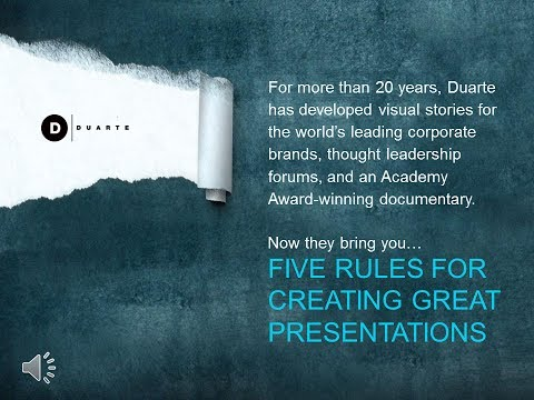 Duarte S Five Rules For Creating Great PowerPoint Presentations