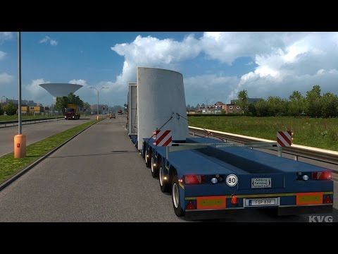 Euro Truck Simulator 2 - Metal Centering - Heavy Cargo Gameplay (PC HD) [1080p60FPS]