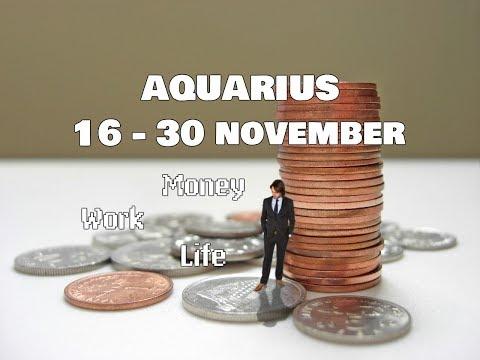AQUARIUS MONEY-WORK-LIFE 16-30 November 2017 In-Depth Tarot
