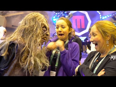 SCARE PRANKS at HALLOWEEN SHOW | FUNNY & SCARY!