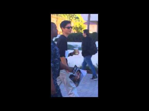 Stolen Valor: Phony Navy Sailor walking around Pierce College Campus.