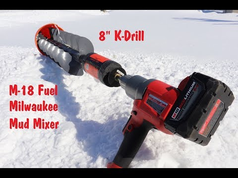 Milwaukee M-18 Mud Mixer And K Drill Ice Auger Update (Ice Fishing Gear) 2019