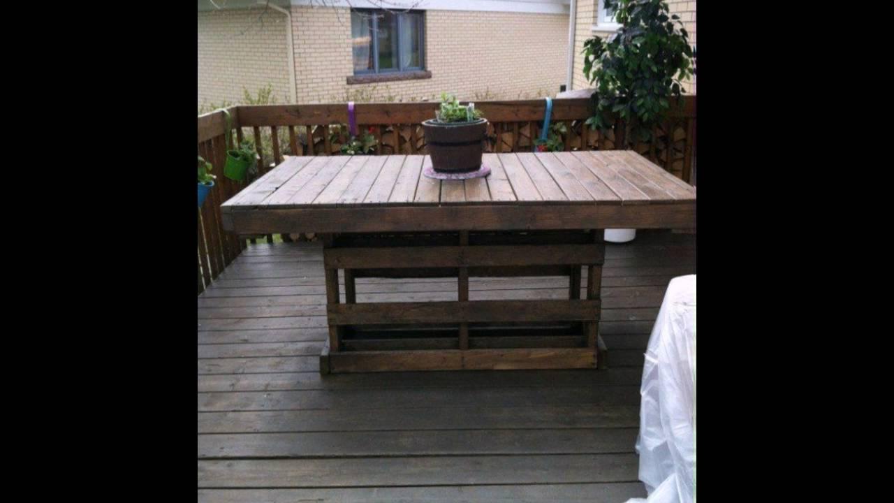 Europaletten Mobel Wunderschones Modell Tisch Auf Der Terrasse Youtube