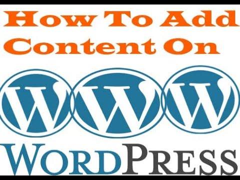How to put content on WordPress (Bangla tutorial-2019) thumbnail