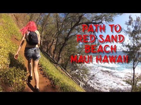 Path to Red Sand Beach Maui Hawaii