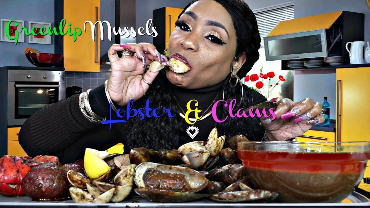 Green lip Mussels, Clams, lobster, and potatoes 2 - YouTube