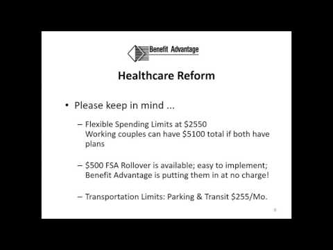 Benefit Advantage 2017 FSA HRA HSA Renewal Webinar