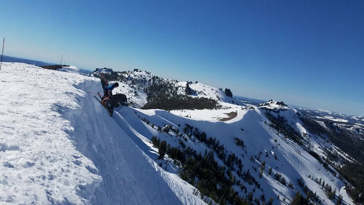 Hucking the high cornice on the wall kirkwood ca youtube for The kirkwood