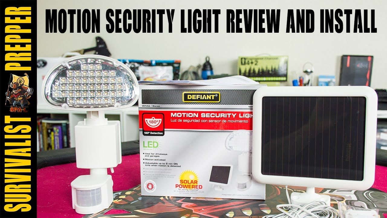 Defiant solar motion detection security light review and install defiant solar motion detection security light review and install mozeypictures