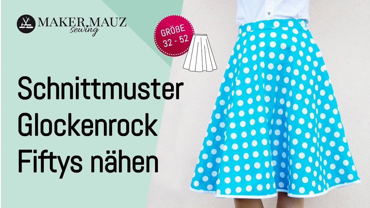 Glockenrock Fiftys - Gratis Schnittmuster und Nähanleitung, Größe 32 ...