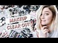 HUGE MAKEUP CLEAR OUT & DECLUTTERING | ORGANISE WITH ME | I Covet Thee Vlog