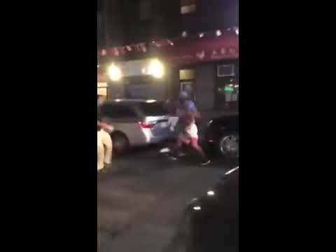 Guy messes with trained MMA fighter in Boston Chinatown