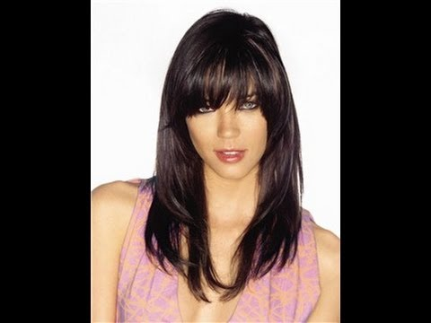 how to style bangs with hair cut your bangs and hair with a razor 9150