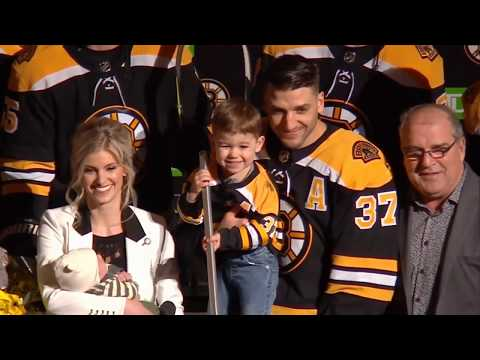 Patrice Bergeron's 1,000th game with the Bruins