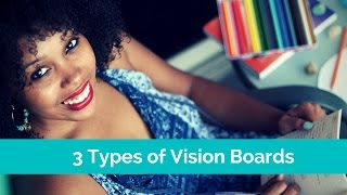 How to make a Vision board  with 3 Non-traditional