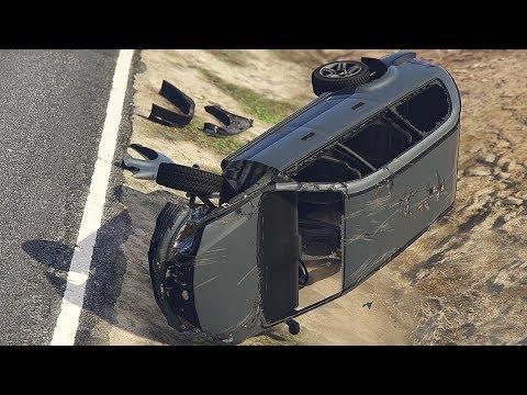 GTA 5 AWESOME CAR CRASHES COMPILATION!!! thumbnail