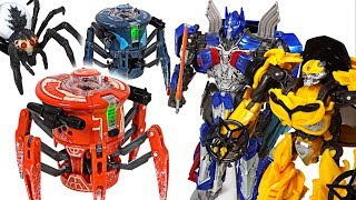 Hexbug Robot spiders has invaded! Transformers Optimus Prime, Bumblebee! Go! - DuDuPopTOY
