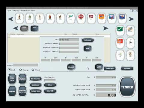 Restaurant Maid Software - Time Clock 20