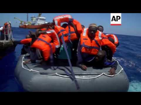 MSF vessel rescues migrants in Mediterranean
