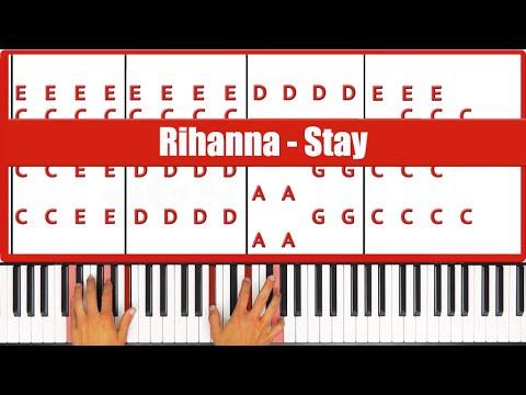 Stay Rihanna Piano Tutorial - ORIGINAL
