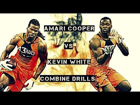 AMARI COOPER VS KEVIN WHITE || 2015 SCOUTING COMBINE