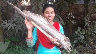 Village Food Recipes   Dry Fish Recipe   Cooking By Street Village Food