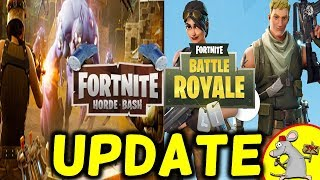 FORTNITE UPDATE Battle Royale Duos Supply Drops / Horde Bash New Game Mode - Patch Notes