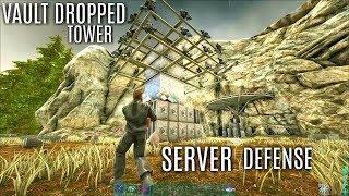 VAULT DROPPED TOWERS and Defending A Friendly Server - Official PVP (E20) - ARK Valguero