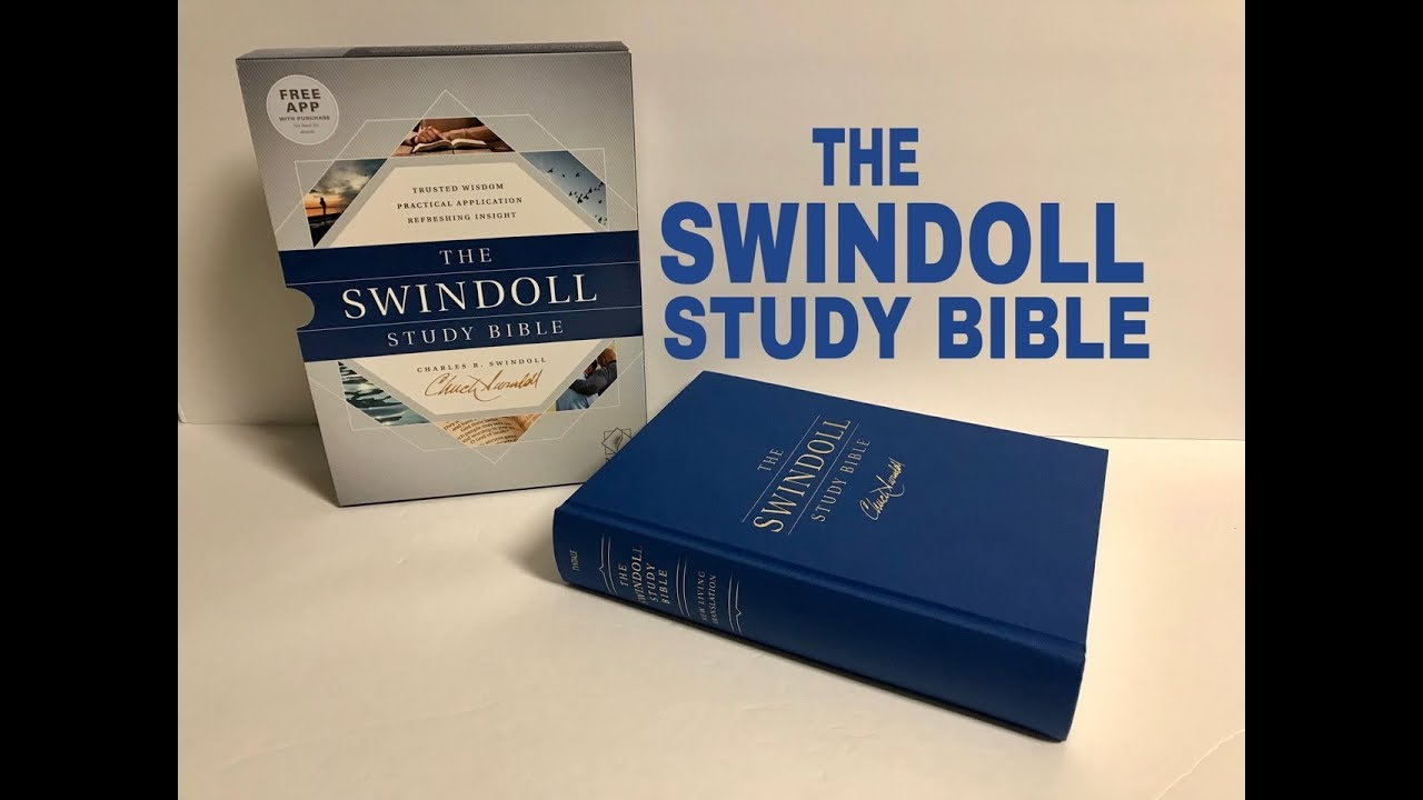 NLT Swindoll Study Bible Review with a Sewn Binding