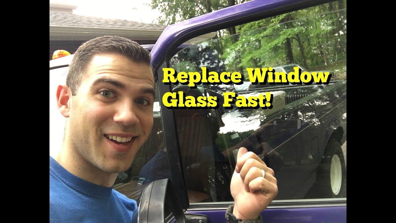 Broken Window Replace Window Glass F150 Youtube