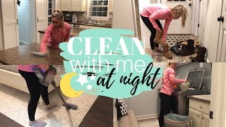Nighttime Clean With Me | Cleaning Motivation