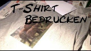 DIY T-Shirt Bedrucken | T-Shirt Ideas | Mit Bügelfolie bedrucken | selber gestalten | deutsch