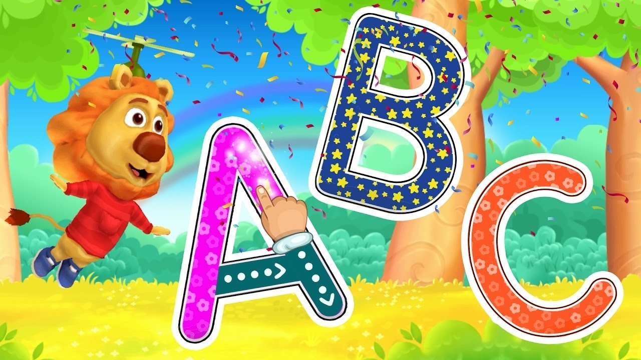 Learn ABC for Kids with funny Lion #1 - ABC Song Collection 2017