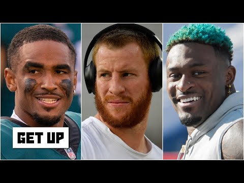DK Metcalf votes 'YES' to the Eagles benching Carson Wentz for Jalen Hurts vs. the Seahawks | Get Up