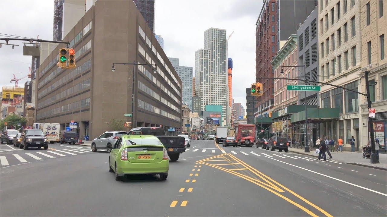 New York City 4K -  Brooklyn Skyscraper Drive