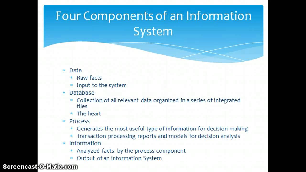 ass 1 information systems in Management information systems help managers forecast scenarios, analyze information and make predictions, so they can make informed decisions.