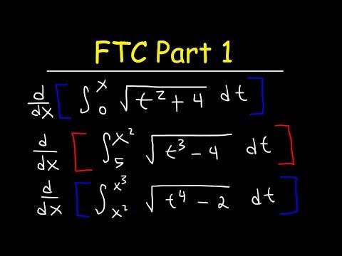 Fundamental Theorem of Calculus Part 1