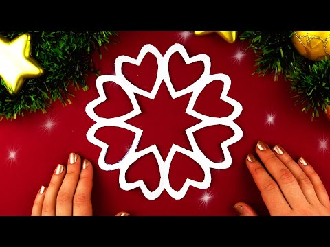How to make paper Snowflake Heart ❄ №7 for Christmas and New Year Detailed tutorial DIY
