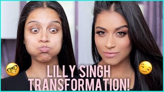 Lilly Singh to SUPERWOMAN Makeup Transformation! Manny MUA