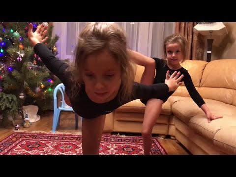 Гимнастические упражнения часть 2.Челлендж: соревнования между сестрами продолжаются.