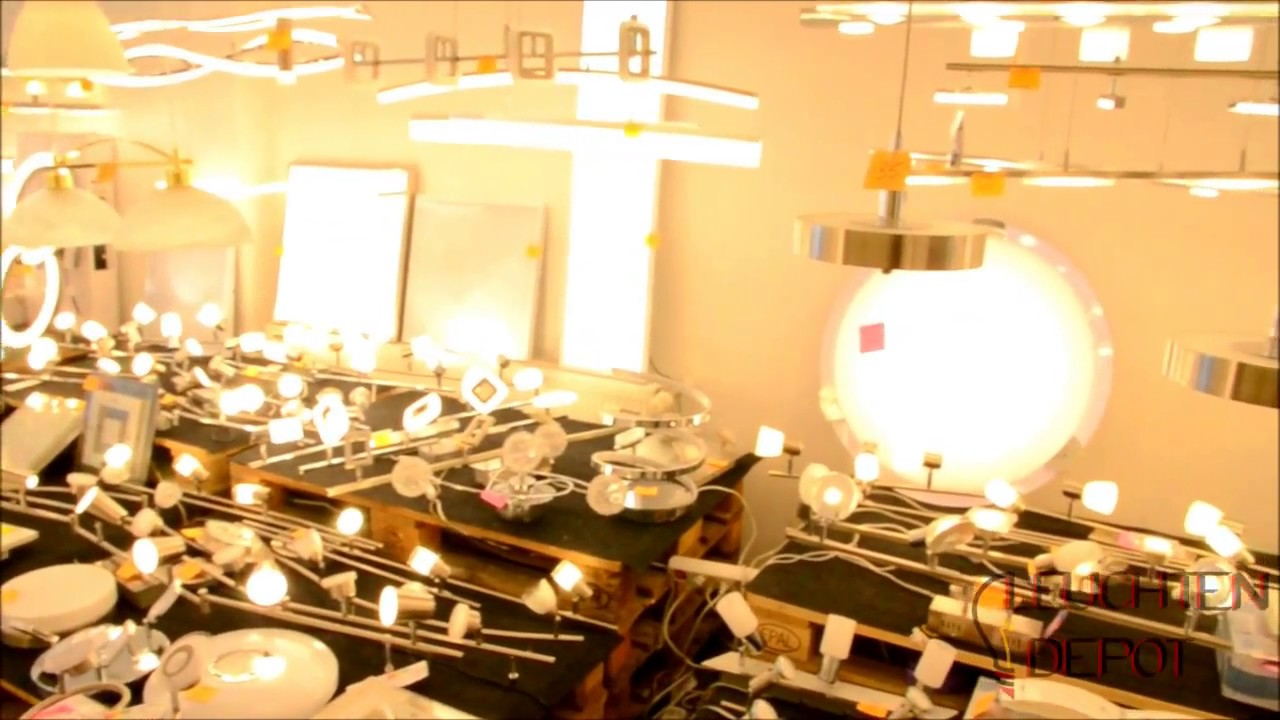 Vide Lampen Outlet : Lagerverkauf von leuchten lampen leuchten depot youtube
