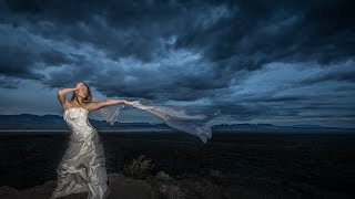 Nevada Desert Mountain Bridals Helicopter Footage with Nikon D800 and flash with Jason Lanier