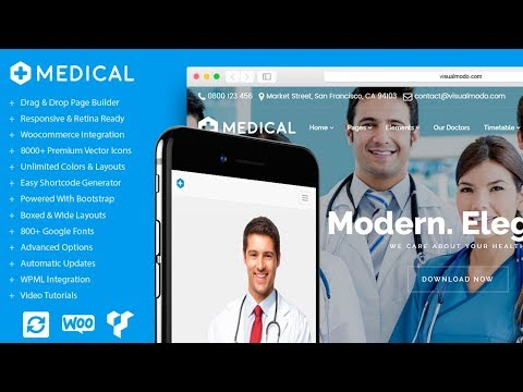 Medical WordPress Theme Health Care & Clinic Home-Page Presentation